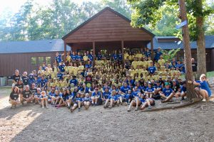 Campers gather for a picture at Camp LUCK.