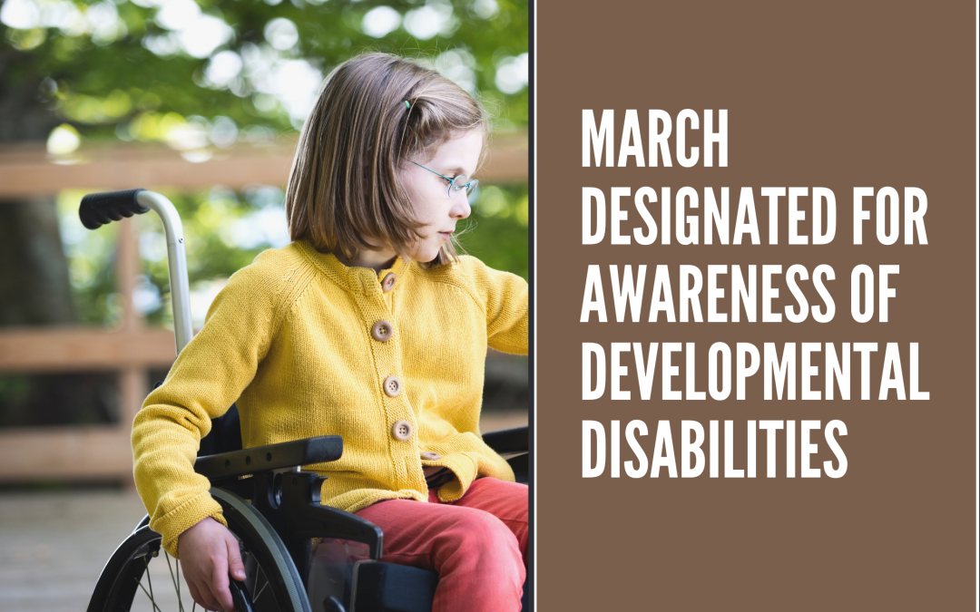 March Designated for Awareness of Developmental Disabilities